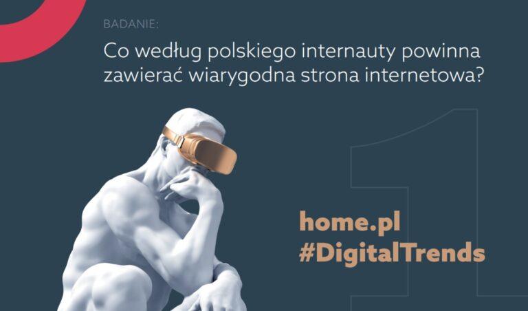 Co powinna zawierać wiarygodna strona internetowa? Poznaj wyniki badania home.pl